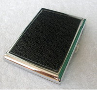 Wholesale Leather cigarette case loaded windproof lighter