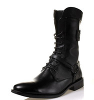 Ankle Boots cowboy boots - new Fashion Men s leather boots High for boots cusp lace up Cowboy boots leisure Men s boots