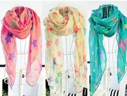 Wholesale children s women s Star Scarf Sarongs Hijabs Bandanas wrap shawl poncho cm mixed color