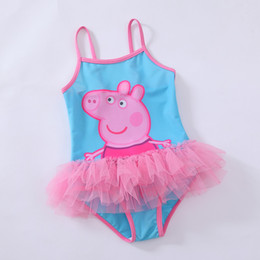 Wholesale IN STOCK Peppa Pig Kids Girl Girls Quality TUTU Dress Swimwear Swimmer Swim dress Bather Swimsuit Costume
