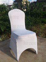 Wholesale white Spandex chair covers white satin chair sashes