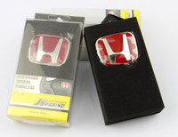 Wholesale HIGH QULITY New JDM Auto Red Emblem Steering Wheel Stickers Badge Never Fade Emblem for SPIRIOR CIVIC CITY
