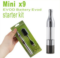 x9 blister achat en gros de-MINI X9 Protank EVOD batterie Blister pack de cigarette électronique Kit, Mini Ptk Cartomizer Atomizer + Evod Battery 650mah 900mah 1100mah