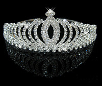 Wholesale In Stock Royal Crowns Shiny Crystals Real Sample Bridal Wedding Tiara Tiaras Hair Accessories