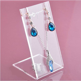 High quality Acrylic Stud Earring Stand Jewelry Holder Necklace Pendant Jewelry Display Stand