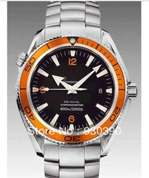 Hot sale luxury wristwatch Swiss brand watch Men's Mechanical Stainless steel Automatic wristwatch orange bezel OM09