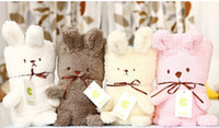 baby blankets wholesale - Hot Sale New EMS Baby Animal Blanket Boys Cartoon Blankets Baby Rabbit Quilts Boys Infant Blankets