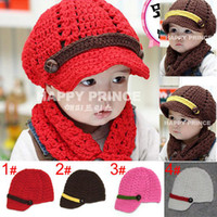 Wholesale New Style striped ribbon buckle pure handmade Kids caps High quality Earflap Christmas Gift