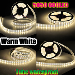 8400 Lumens 600 Leds 5M 5050 Double Row Led Strips Light Waterproof Warm Pure Cool White 120Leds M 144W 5M DC 12V Best For Christmas Light