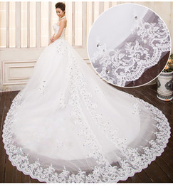 2014 New Luxury Crystal Beaded Sweetheart Sweetheart Applique Tulle Bridal Ball Gown A-line Cathedral train Cheap Sheer Wedding Dresses
