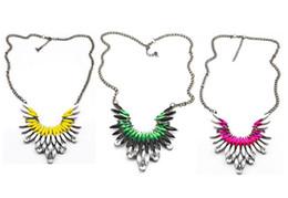 New Europe Style Gun Black Alloy Resin Gem Crystal Flower Pendant Necklace 3 colors