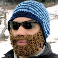Wholesale Full Beard Beanie Mustache Mask Face Warmer Ski Winter Hat Cap Gift Adult Unisex warmly hats Creative Cool Funny Gift moustache hat