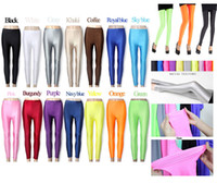 Wholesale 2014 Newest Sexy Candy Color Women s Stretch High Waist Leggings for Women Yoga Fluorescence Neon Leggings Skinny Junior Pants G0268
