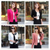 Wholesale Fashion Lady Suit Women OL Blazer Double Breasted Cardigan Women s Casual Long Puff Sleeve Plus Size Jacket Bow Tie Back Coat G0255