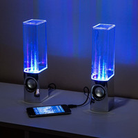 Dancing Water Speaker Active Portable Mini USB LED Light Speaker pour PC MP3 MP4 mobile comme iphone 5 5s s4 6 6+ i9500 note 4 3 ipad air mini