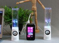 Active Portable Mini USB LED Light 3.5mm Dancing Water Fountain Speaker pour ordinateur Téléphone portable MP3 MP4 Tablet PC PSP Soundbox Boombox