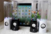 Enceintes d'eau de danse Active Portable Mini USB LED Light Speaker pour PC MP3 MP4 cellphone comme iphone 5 5s 5 s4 i9500 note 3 ipad air mini