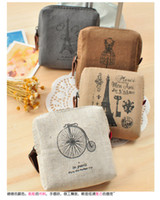 Wholesale new Korean version of Paris memories zakka pouches purse coin bag gift purse retro canvas wsd39