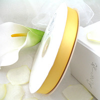 Wholesale Top Super Sale Yards Sunshine Yellow High Quanlity Satin Polyester Ribbon Wedding Party Favor Decoration Craft Christmas Gift Decor