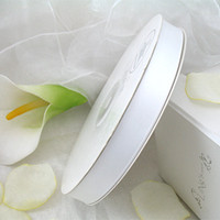 Wholesale On Sale Yards White High Quanlity Satin Polyester Ribbon Wedding Party Favor Decoration Craft Christmas Gift Decor