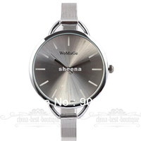 Wholesale NEWEST LUXURY OVERSIZE FACE Women Lady Quartz Slim Alloy Band Analog Wrist Watch