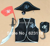 Boy Cartoon Star Costumes & Accessories Free Shipping Hot Sale !One Set Performance Wear Costume Halloween Pirate Costume Clothing Cosplay Costumes for Kids Wholesale