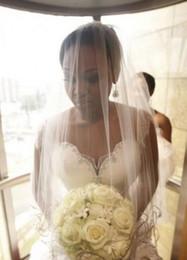 Wholesale Actual image Cathedral Bridal Veil white layer ribbon train Wedding Veil elegant lady s Bridal Accessories