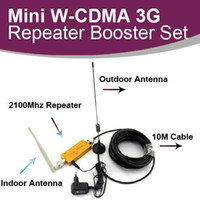 Wholesale Amplifier Kit Mini W CDMA Mhz G Repeater Mobile Phone G Signal Booster WCDMA Signal Repeater Amplifier Cable Antenna