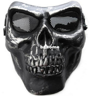 airsoft death - New Death Skull Bone Airsoft Mask Full Face Protect Mask Halloween Party Mask PW0019 Drop Shipping