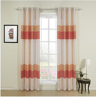 Wholesale One Panel Country Print Color Shade Room Darkening print Orange Curtain