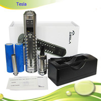 Electronic Cigarette Set Series Silver The Most Huge Vapor Variable Voltage Ecig Tesla mod beyond lavatube Vmax, Vamo e-cigarette with 18650 battery 6ml DCT clearomizer