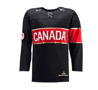 Men Full Polyester 2014 Olympic Canada Jersey Black Color Hockey Wears Hockey Jerseys