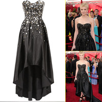 sequin elastic - 2013 The Great Gatsby Carey Mulligan Celebrity Dresses A Line Sweetheart Elastic Satin Beading Sequins Hi Lo Pageant Gown Evening Dress
