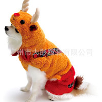 Wholesale Frre shipping Hot new dog clothes turned install Christmas deer thick strap pet clothing pet clothing qjq31