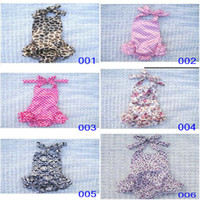 Girl Summer satin Baby One-Piece & Romper 2014 summer TUTU ruffles rompers dot leopard printing baby one piece babies clothing