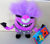 DESPICABLE ME 2 PURPLE EVIL MINION ONE EYE 3D PLUSH DOLL 7&q...