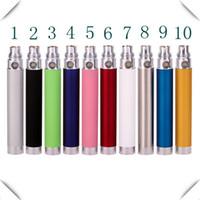 Cheap Ego-u USB Battery Ego Pass through Battery Ego-u Battery 900mAh 1100mAh Ego-PT Battery Charged from Bottom for E-cig CE4 CE5 Vivi