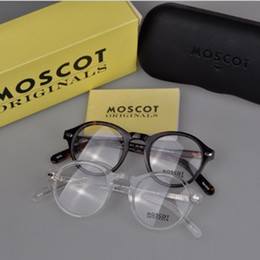Wholesale High quality Transparent Black tortoise color Moscot glasses frame Medium size freeshipping Moscot glasses frame