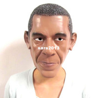 Wholesale U S President Barack Obama Mask Natural Latex Ecology Healthful Masquerade Halloween Christmas Party Presidential Election Mask