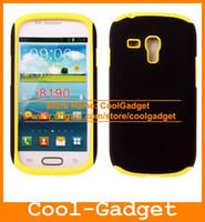 Silicone+Matte For Samsung for Samsung Galaxy S3 Smini I8190 Stylish Hybrid Silicone Case Matte Hard Cover Skin for Samsung Galaxy S3 S III mini I8190 I8190C19