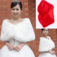 Wrap fur flower scarf - Wedding dress with white fur warm plush red Korean female models autumn and winter scarves shawl bride