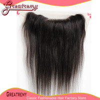 Wholesale 13x4 Virgin Brazilian Lace Frontal Hairpieces Unprocessed Lace Closure Human Hair Silk Straight quot quot Natural Color Hair Weave A