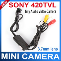 Wholesale mini Sony CCD square cctv camera Covert Mini Camera TVL micro Audio mm Lens