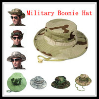 Wholesale PRO Fishing Hunting Army Marine Bucket Jungle Cotton Military Boonie Hat Cap