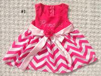 Summer chevron dresses - EMS crystal Girls chevron dress Baby chevron dress Kids zigzag dress dance costume for girls Princess chevron dress