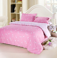 Wholesale Melodic Music Notes Pink Bedding Set for Girls Cotton Fabric Reversible Twill Quilt Duvet Covers Bedclothes Comforter Sets Full Queen