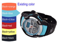 Wholesale free shiping fee ATM water proof both analog digital cheap watch