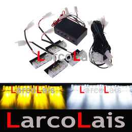4x3 LED Strobe Flashing Lights Grille Emergency White Amber DLCL8610