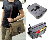 Wholesale Fashion Men s Canvas Vintage Crossbody Satchel Hand bag Travel Handbag Casual Shoulder School Book Messenger Bag H9654