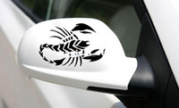 Wholesale 1 Pair Scorpion Removable Art Vinyl Car Rearview Mirror Sticker Nick Conceal Cover Decoration Decal C033